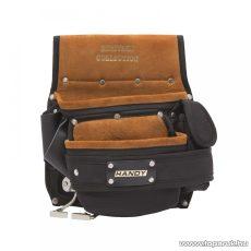Handy Heritage Collection Prémium minőségű hasított bőr és poliészter, övre fűzhető szerszámtartó táska, 25,5 x 29,5 cm (10265)