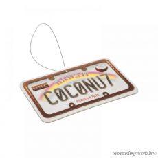 Autó illatosító (USA államok rendszámtábláját mintázó autóillatosító), Coconut