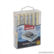 Maxell 18721P Power Pack Mikro ceruza elem, 1,5V, (AAA, LR3 méret), 24 db / csomag