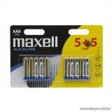 Maxell 18735 Mikro ceruza elem, 1,5V, (AAA, LR3 méret), 5 + 5 db / csomag