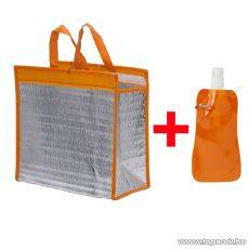 Alumínium bevonatos hűtőtáska + összehajtható kulacs, 30 x 30 cm, narancs (57180OR)