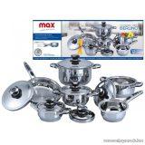 Perfect Home MAX 11502 Berlino INOX edénykészlet, 12 részes