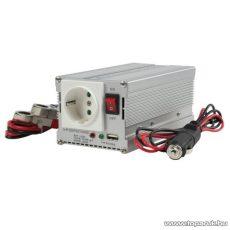 HQ Autós feszültség átalakító, inverter, 300/600 W, 24 - 230 V (HQ-INV300WU-24)