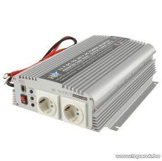 HQ Szinusz hullámú feszültség átalakító, inverter, 1000 W, 12 - 230 V (HQ-INV1KW/12)