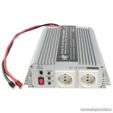 HQ Szinusz hullámú feszültség átalakító, inverter, 1000 W, 24 - 230 V (HQ-INV1KW/24)