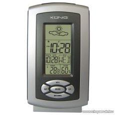 König KN-WS100 Asztali időjárás állomás, digitális óra és hőmérő, páratartalom mérő
