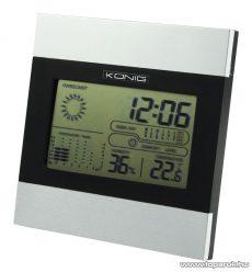 König KN-WS102N Asztali időjárás állomás, digitális óra és hőmérő, páratartalom mérő