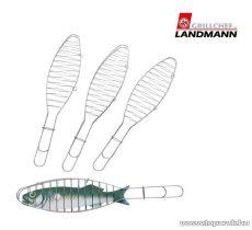 Landmann 0177 Halsütő készlet, krómozott, 4 db-os