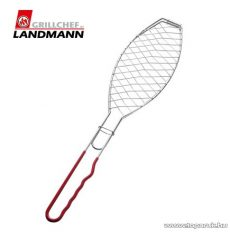 Landmann 0283 Krómozott grill halsütő, piros nyéllel