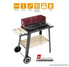 Landmann 0566 Faszenes party grillkocsi, fa polccal (6 személyes)