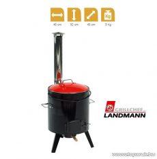 Landmann 0825 Zománcozott gulyásfőző, forralt bor főző és pörköltfőző kályha, kivehető üsttel és fedéllel