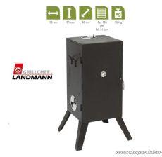 Landmann 11091 Hőálló borítású füstölő szekrény, fekete