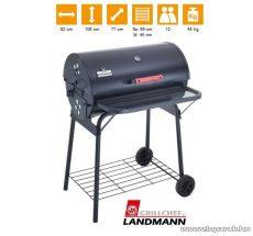 Landmann 11418 Black Dog faszenes party grillkocsi, első polccal (12 személyes) - készlethiány