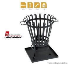 Landmann 11767 Kültéri tüzelőhely, kerek tűzrakó tűzkosár, hamugyűjtő tálcával és hordfülekkel - megszűnt termék: 2015. március