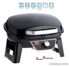 Landmann 12050 Hordozható gázgrill, fekete (4 személyes)