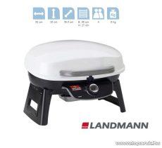 Landmann 12052 Hordozható gázgrill, fehér (4 személyes) - készlethiány