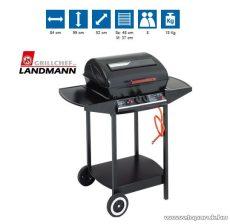 Landmann 12375 Lávaköves party gázgrill kocsi, alumíniumozott acél égőfejekkel, 5.0 kW (8 személyes)
