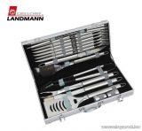 Landmann 13376 Party grillkészlet acélkofferban, 24 darabos (6 személyes)