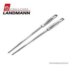 Landmann 13454 INOX SELECTION Időtálló rozsdamentes acél kivitelű saslikpálca, 2 db / csomag
