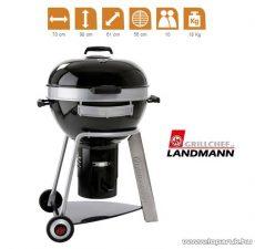 Landmann 31342 Black Pearl Comfort faszenes fekete gyöngy party gömbgrill (10 személyes)