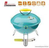 Landmann 31375 Piccolino faszenes asztali gömbgrill, zománcozott fedéllel és tűztérrel, türkiz (4 személyes)