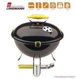 Landmann 31377 Piccolino faszenes asztali gömbgrill, zománcozott fedéllel és tűztérrel, fekete (4 személyes)