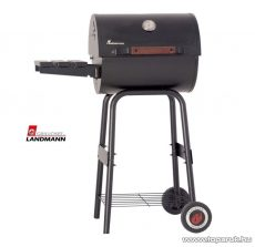Landmann 11429 Eco 4 lábú faszenes party grillhordó, melegentartó rácsokkal (8 személyes)