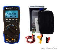 HOLDPEAK 760D Digitális multiméter, VAC, VDC, AAC, ADC, frekvencia, kapacitás, bargraph, TRMS mérőműszer