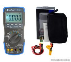 HOLDPEAK 760H Digitális multiméter, VDC, VAC, ADC, AAC, frekvencia, kapacitás, hőmérséklet, hFE, TRMS mérőműszer