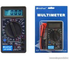 HOLDPEAK 830B Digitális multiméter, VDC, VAC, ADC, ellenállás mérés, dióda, tranzisztor hFE mérőműszer