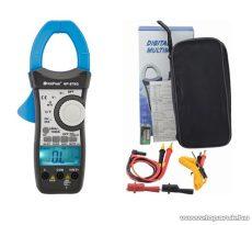 HOLDPEAK 870G Digitális lakatfogó, 2 kijelzős multiméter, VDC, VAC, AAC, ellenállás, hőmérséklet és dióda mérőműszer