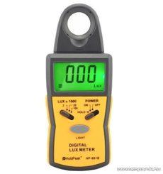 HOLDPEAK 881B Digitális fénymérő (fényerősségmérő) mérőműszer + hord táska, 0.1-100000 Lux, adattartás