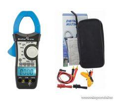 HOLDPEAK 870D Digitális lakatfogó, multiméter, 2 kijelzős, VDC, VAC, ADC, AAC, ellenállás, kapacitás és frekvencia mérőműszer