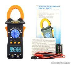 HOLDPEAK 3266B Digitális lakatfogó, multiméter, nagyáramú, VDC, VAC, AAC, ellenállás, szakadás mérőműszer