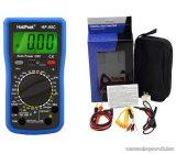 HOLDPEAK 90C Digitális multiméter, VDC, VAC, ADC, AAC, ellenállás, kapacitás, dióda, hFE, szakadás, mérőműszer, elemteszt funkcióval