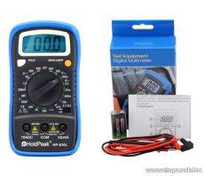 HOLDPEAK 830L Digitális multiméter, VDC, VAC, ADC, ellenállás, dióda, szakadás, tranzisztor hFE teszt mérőműszer