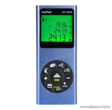 HOLDPEAK 3060S Digitális, lézeres távolságmérő, 0.03-60m, memória, terület/térfogat és háromszög mérőműszer