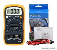 HOLDPEAK 838L Digitális multiméter, VDC, VAC, ADC, ellenállás, hőmérséklet, dióda, szakadás, tranzisztor hFE mérőműszer