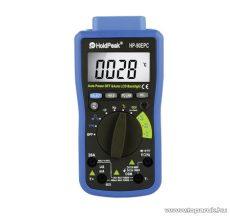 HOLDPEAK 90EPC Digitális multiméter, USB PC porttal, VDC, VAC, ADC, AAC, ohm, kapacitás, frekvencia, hőmérséklet mérőműszer