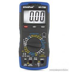 HOLDPEAK 770B Digitális multiméter, VAC, VDC, AAC, ADC, ellenállás, kapacitás, frekvencia és hőmérséklet mérő, feszültség kereső mérőműszer