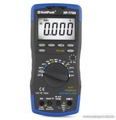 HOLDPEAK 770H Digitális multiméter, VAC, VDC, AAC, ADC, ellenállás, kapacitás, frekvencia és hőmérséklet mérő, feszültség kereső, TRMS mérőműszer