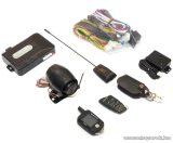 EASYCAR E702-A Autóriasztó, 1 db LCD + 1 db kiegészítő távirányítóval, bőrtok, rezgésérzékelő, antenna funkcióval
