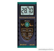 HOLDPEAK 1390 Elektromágneses sugárzásmérő mérőműszer, Gauss és Tesla érték megjelenítése, 4 digit LCD kijelzővel