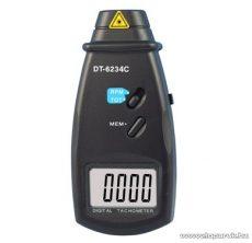 HOLDPEAK 6234C Digitális, lézeres, optikai fordulatszám mérő mérőműszer + hord táska (2.5-99999RPM)