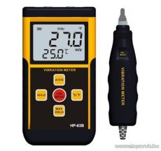 HOLDPEAK 63B Digitális rezgésmérő mérőműszer + alumínium hord táska, külső piezzo elektromos kerámia érzékelő funkcióval, 10Hz-15kHz