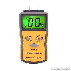 HOLDPEAK 883A Univerzális digitális nedvességmérő mérőműszer LCD kijelzővel, beépített mérőcsúcs + hord táska