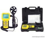 HOLDPEAK 846A Digitális szélerősség, légáramlás és hőmérsékletmérő műszer kofferben
