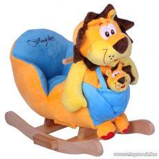 Beleülős, plüss oroszlános hintás gyermek fotel (JR2586B) - készlethiány