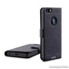 PURO iPhone SE / 5 / 5s Ultra slim (ultravékony) okostelefon könyv bőrtok, fekete