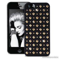 PURO iPhone SE / 5 / 5s ROCK okostelefon tok, kerek és szögletes díszkövekkel, fekete